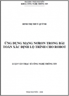 Ứng dụng mạng nơron trong bài toán xác định lộ trình cho robot