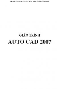 Giáo trình Autocad 2007