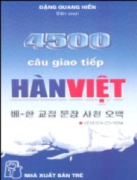 4500 câu giao tiếp Hàn Việt