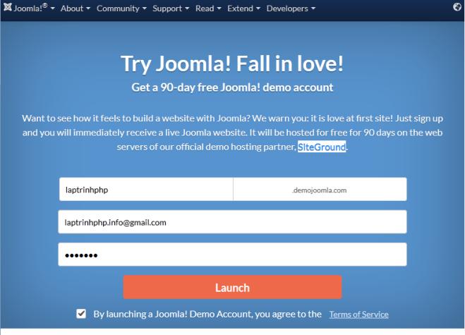 Xây dựng website Joomla với subdomain riêng