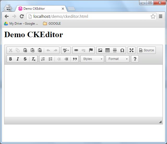 demo ckeditor