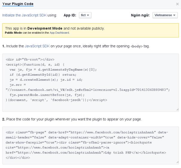 Getcode mã trang face