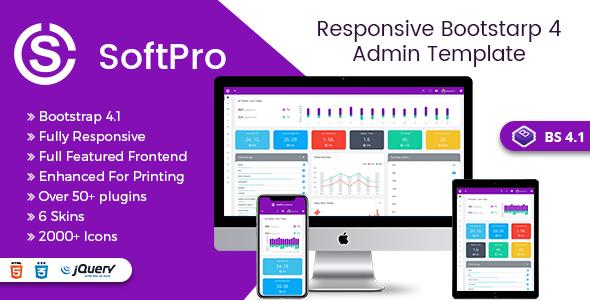 Mẫu Template Soft Pro Admin Dashboard